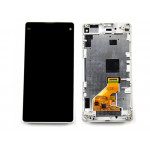 Sony Xperia Z1 Compact LCD + Touch + Frame White