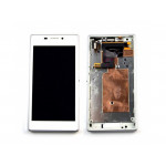 LCD + Touch + Frame (Assembled) pro Sony Xperia M2 (D2303) White (OEM)