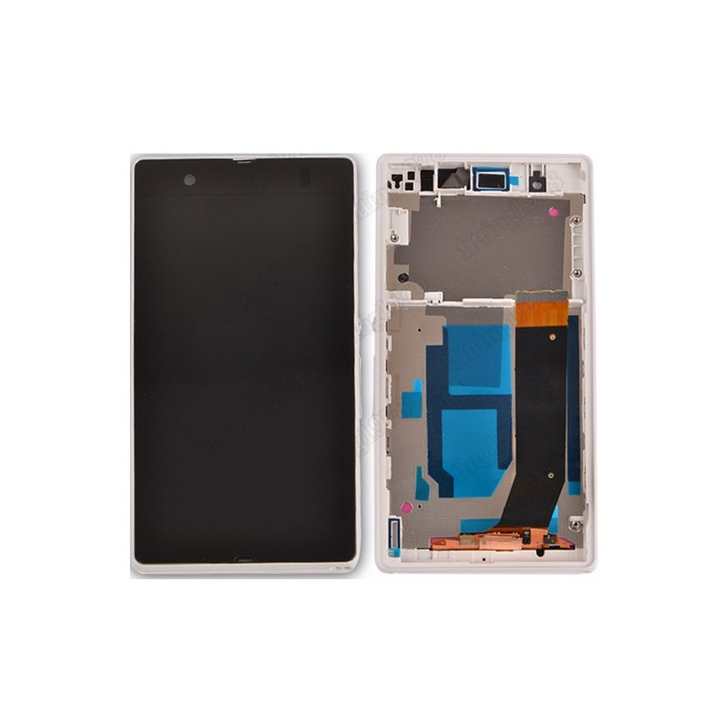 Sony Xperia M LCD displej + dotyk + rám White