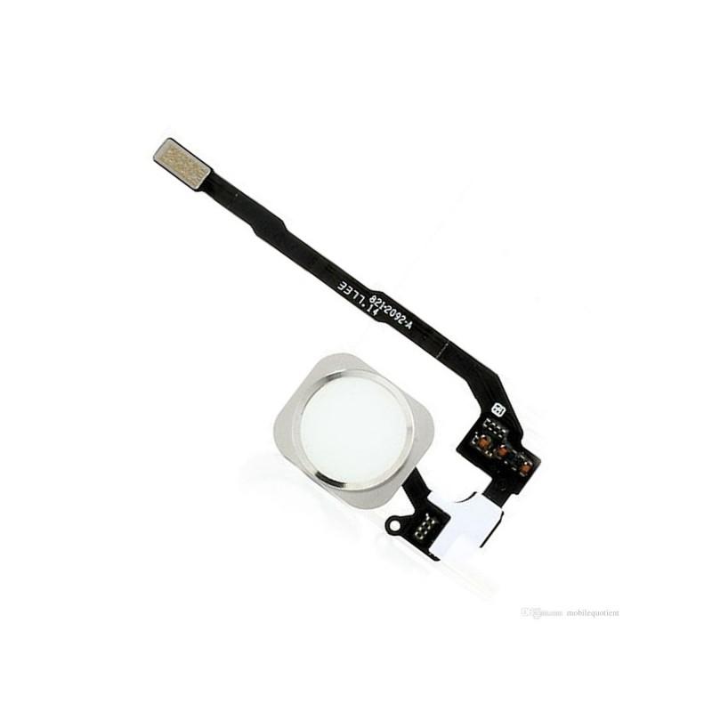 Home Button + Flex Silver pro Apple iPhone SE