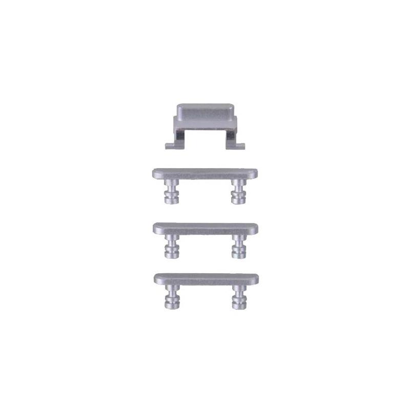 Side Buttons set (volume + power button) Silver pro Apple iPhone 7 Plus
