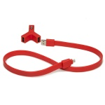 TYLT Y-CHARGE - 2.1A + Syncable Red