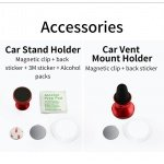 Mcdodo Car Holder Accessories Bag (Magnetic Chip, Sticker, Leaning Bag) Black