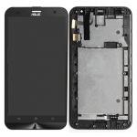 LCD + Touch + Frame (Assembled) pro Asus Zenfone 2 Laser (ZE550KL) Black (OEM)