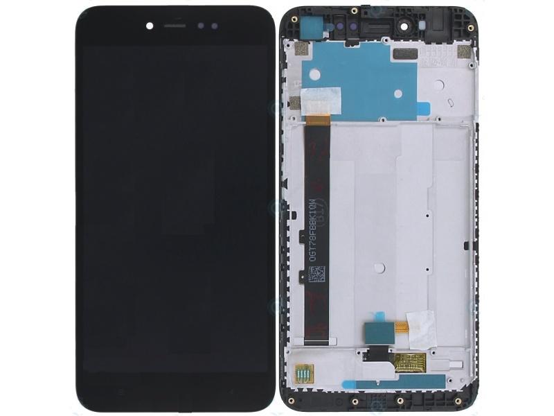Xiaomi Redmi Note 5A Prime LCD + Touch + Frame - Black (Service Pack)