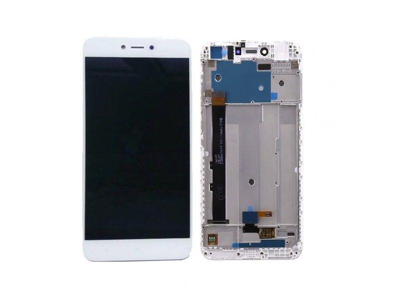Xiaomi Redmi Note 5A LCD + Touch + Frame - White (Service Pack)