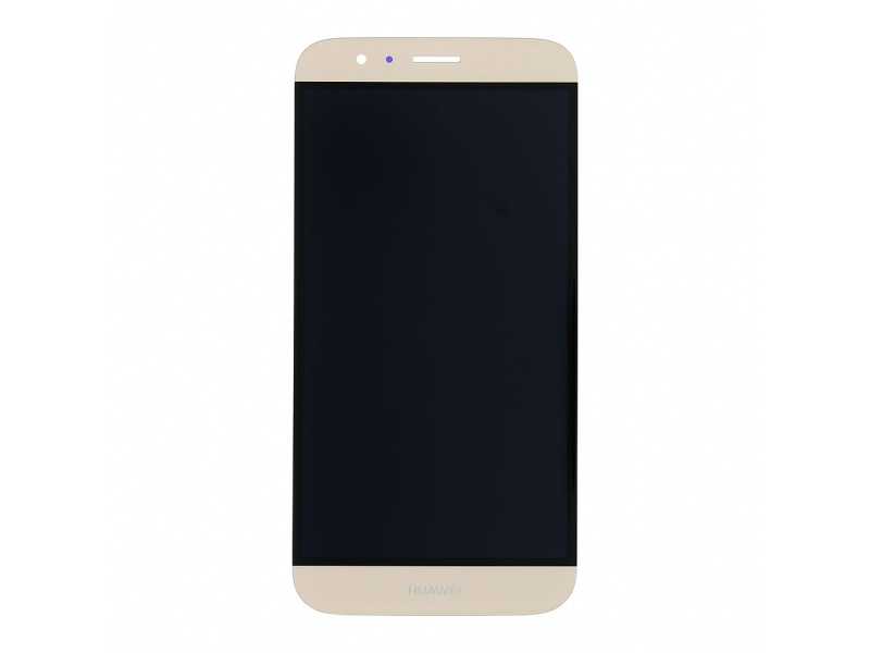 LCD + Touch + Frame (Assembled) pro Huawei G8 - Gold (OEM)
