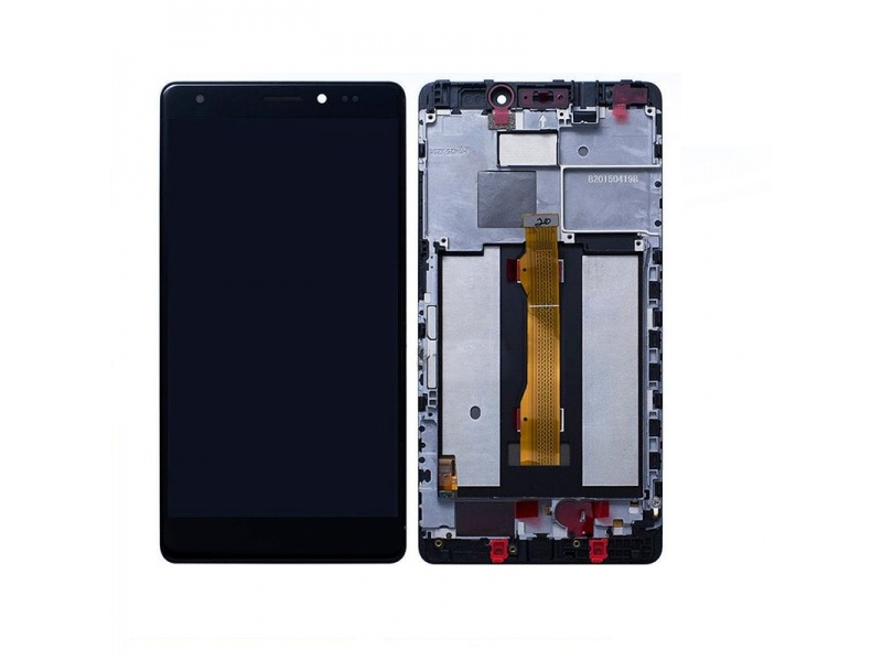 LCD + Touch + Frame (Assembled) pro Huawei Mate S - Black (OEM)