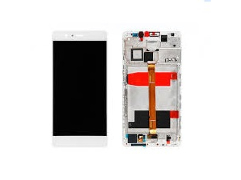 LCD + Touch + Frame (Assembled) pro Huawei Mate 8 - White (OEM)