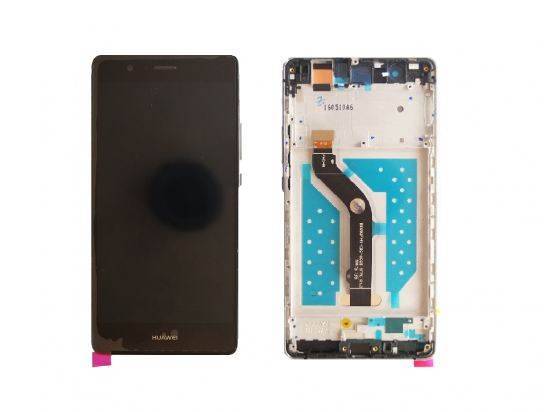 LCD + Touch + Frame (Assembled) pro Huawei G9 - Black (OEM)