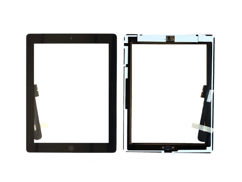 Touch with Home Button and Original Adhesive Black pro Apple iPad 3