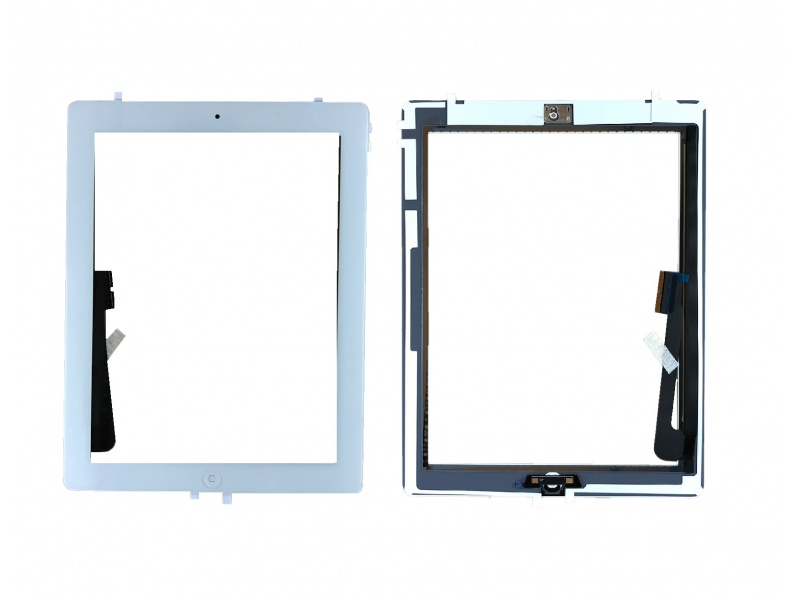 Touch with Home Button and Original Adhesive White pro Apple iPad 3