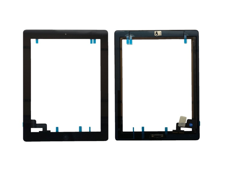 Touch with Home Button and Adhesive Black pro Apple iPad 2
