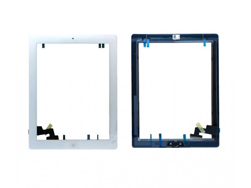 Touch with Home Button and Adhesive White pro Apple iPad 2
