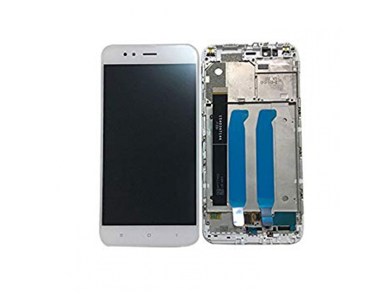 Xiaomi Mi A1 LCD + Touch + Frame (Assembled) - White (OEM)