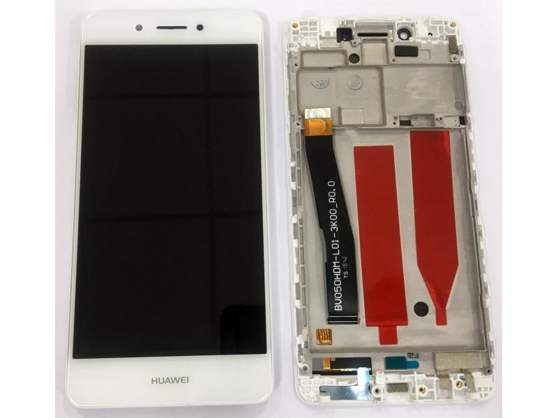 LCD + Touch + Frame (Assembled) pro Huawei Nova Smart - White (OEM)