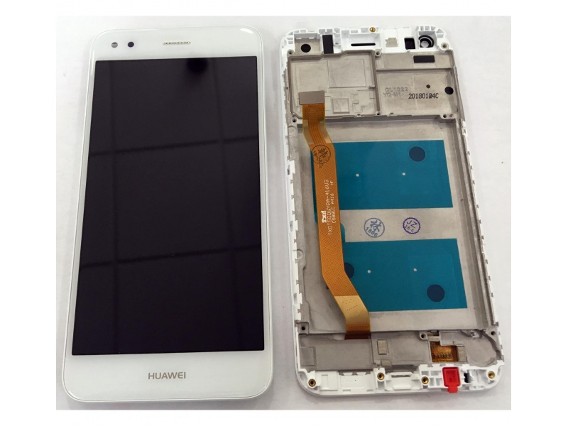 LCD + Touch + Frame (Assembled) pro Huawei P9 Lite Mini - White (OEM)