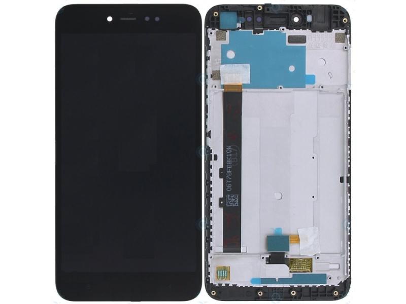 Xiaomi Redmi Note 5A Prime LCD + Touch + Frame (Assembled) - Black (OEM)