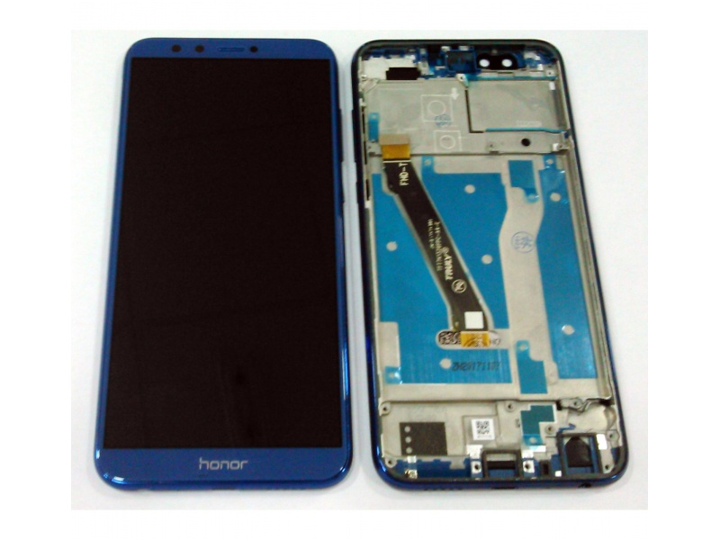 LCD + Touch + Frame (Assembled) pro Huawei Honor 9 Lite - Blue (OEM)