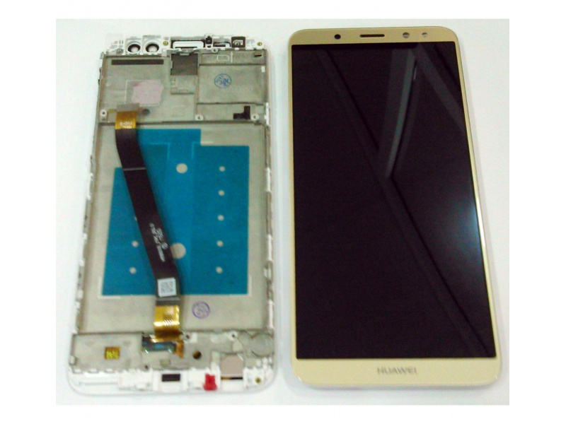LCD + Touch + Frame (Assembled) pro Huawei Mate 10 Lite - Gold (OEM)