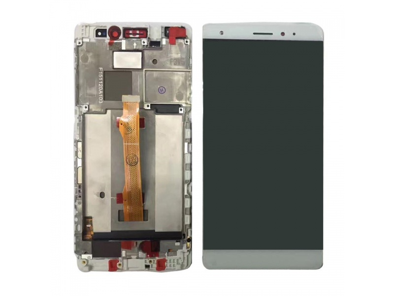 LCD + Touch + Frame (Assembled) pro Huawei Mate S - White (OEM)