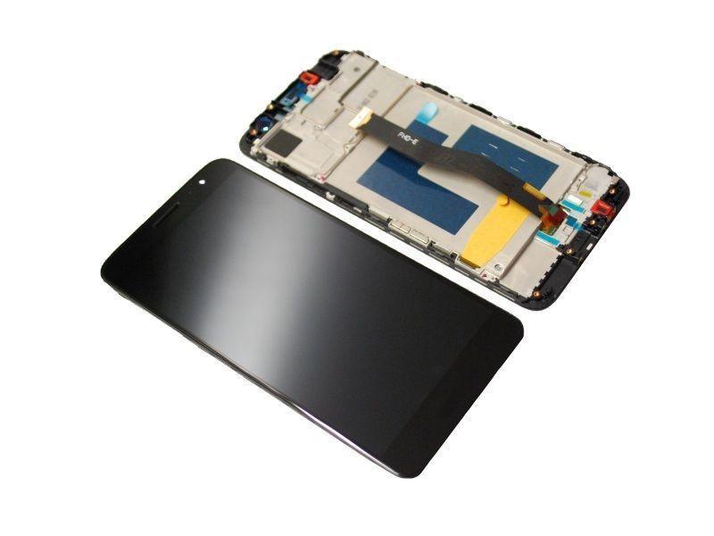 LCD + Touch + Frame (Assembled) pro Huawei Nova Plus - Black (OEM)