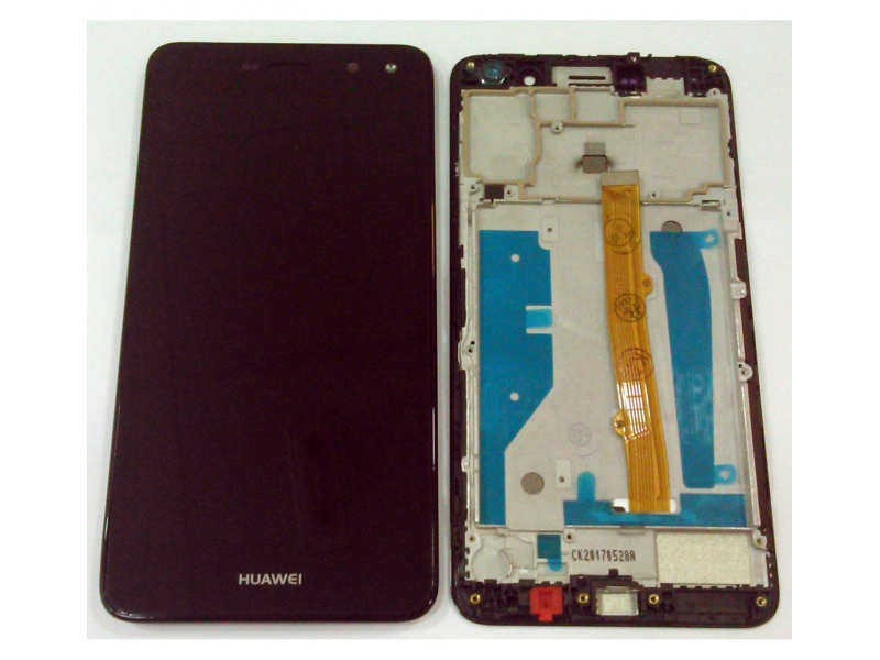 LCD + Touch + Frame (Assembled) pro Huawei Y6 (2017) - Black (OEM)