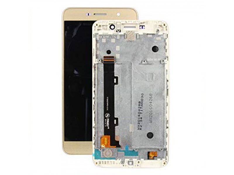 LCD + Touch + Frame (Assembled) pro Huawei Y6 PRO - Gold (OEM)
