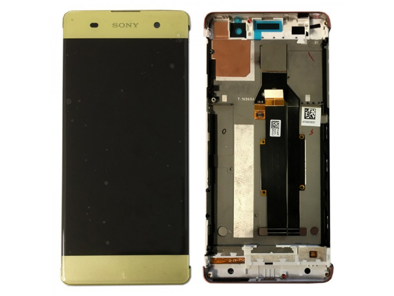LCD + Touch + Frame (Assembled) pro Sony Xperia XA Lime Gold (OEM)