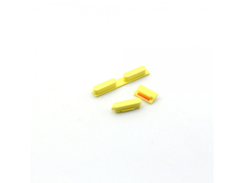 Side Buttons Set (Volume + Power Button) Yellow pro Apple iPhone 5C