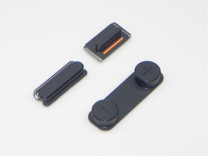 Side Buttons Set (Volume + Power Button) Black pro Apple iPhone 5