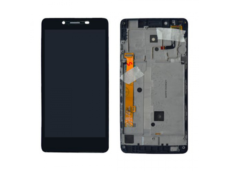 LCD + Touch + Frame (Assembled) pro Lenovo A6000 Black (OEM)