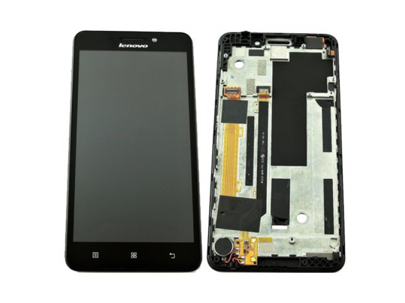 LCD + Touch + Frame (Assembled) pro Lenovo A5000 Black (OEM)