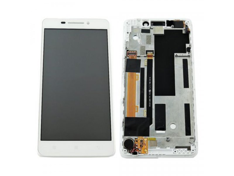 LCD + Touch + Frame (Assembled) pro Lenovo A5000 White (OEM)