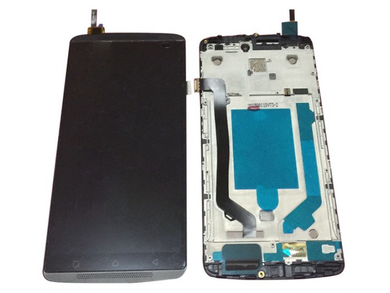 LCD + Touch + Frame (Assembled) pro Lenovo A7010 Black (OEM)