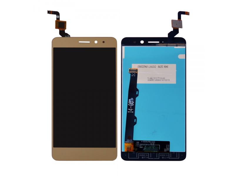 LCD + Touch + Frame (Assembled) pro Lenovo K6 (Dual SIM) Gold (OEM)