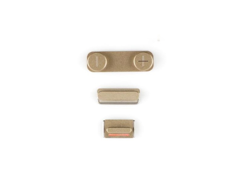 Side Buttons Gold pro Apple iPhone 5S