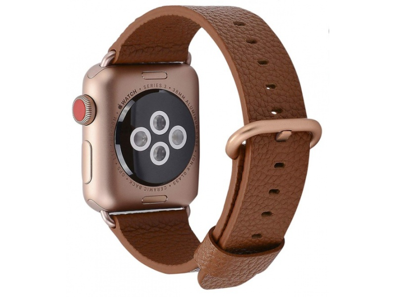Leather Colour Backle Band For Apple Watch 42 / 44mm Brown