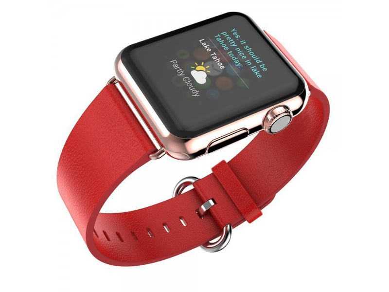 Leather Colour Backle Band For Apple Watch 42 / 44mm Red