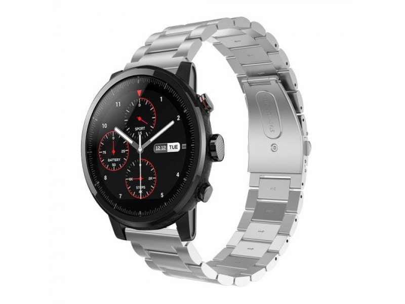 Stainless Steel Strap pro Xiaomi Huami Amazfit Pace / Amazfit 2 Stratos (Silver)