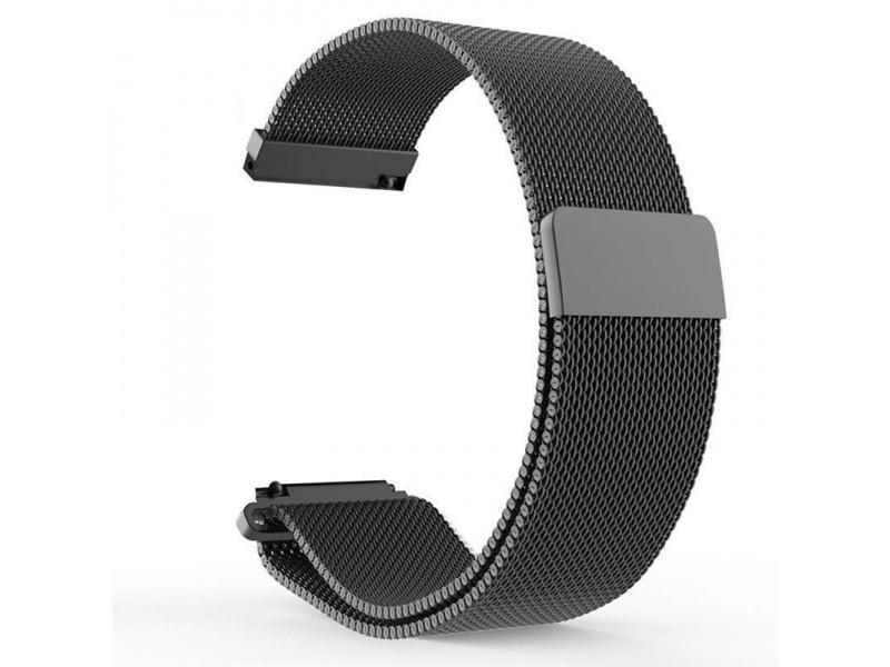 Milanese Stainless Steel Strap pro Xiaomi Huami Amazfit Pace / Amazfit 2 Stratos (Black)