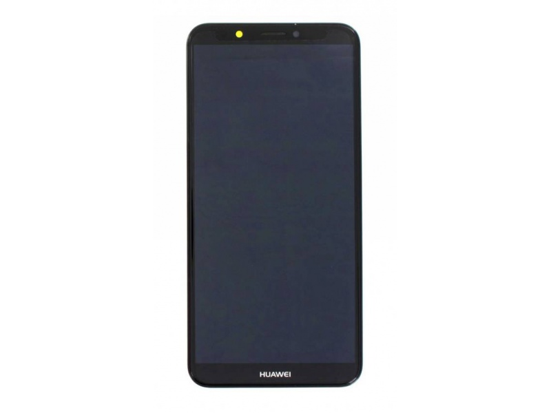 Huawei Y7 2018 LCD + Touch + Frame + Battery - Black (Service Pack)