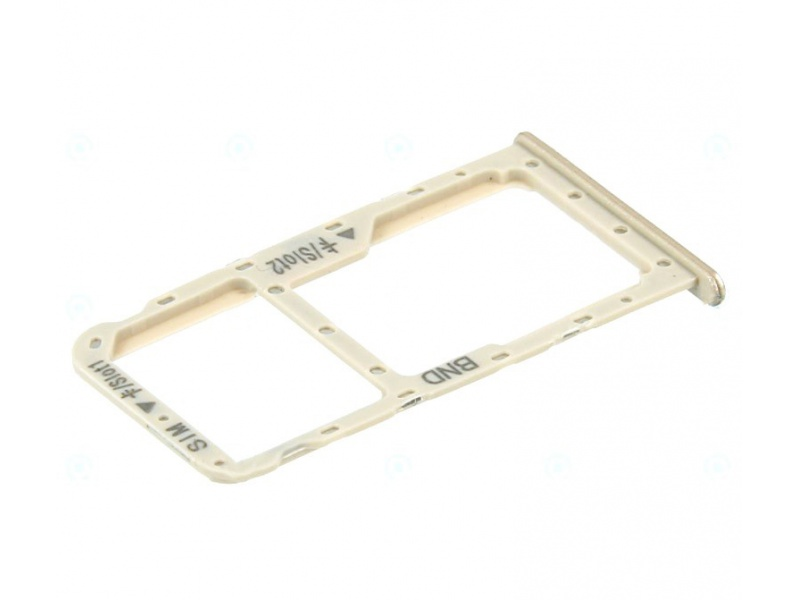 Huawei Honor 7X SIM / SD Card Holder - Gold (Service Pack)