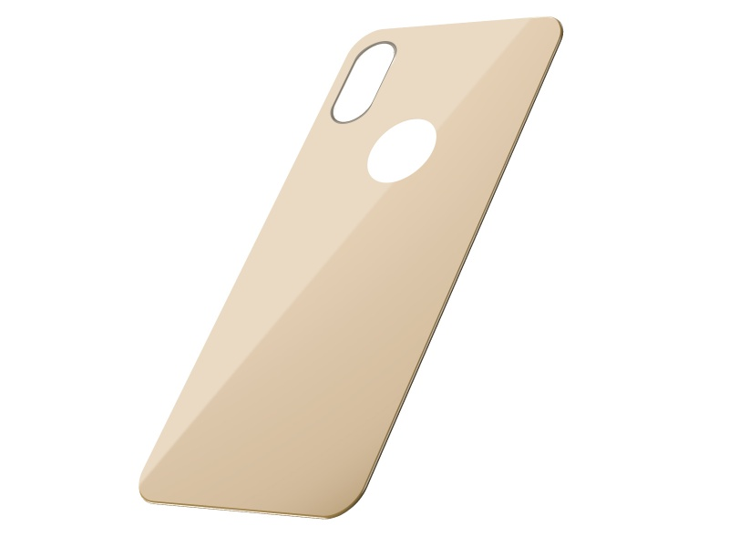 Baseus Full Coverage Curved Rear Tempered Glass for iPhone XS Gold