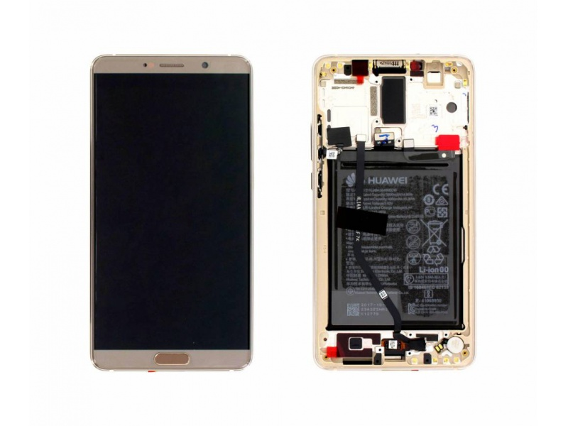 Huawei Mate 10 LCD + Touch + Frame + Battery - Brown (Service Pack)