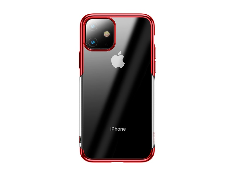 Baseus Shining Case for Apple iPhone 11 Transparent-Red