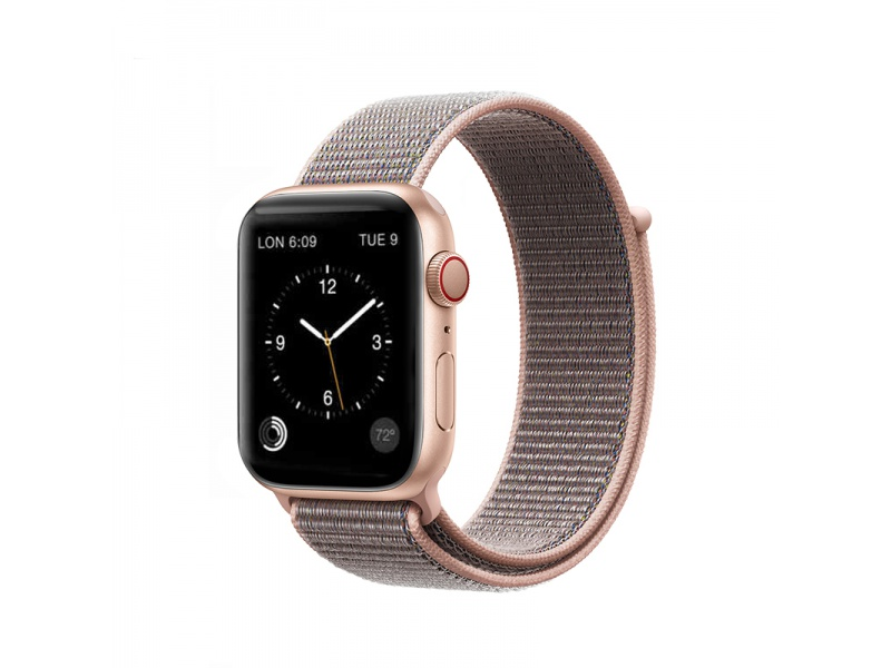 COTEetCI Magic Tape Strap for Apple Watch 38 / 40mm Pink Sand