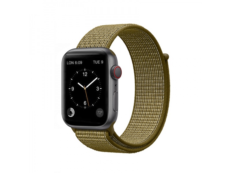 COTEetCI Magic Tape Strap for Apple Watch 38 / 40mm Olive Green