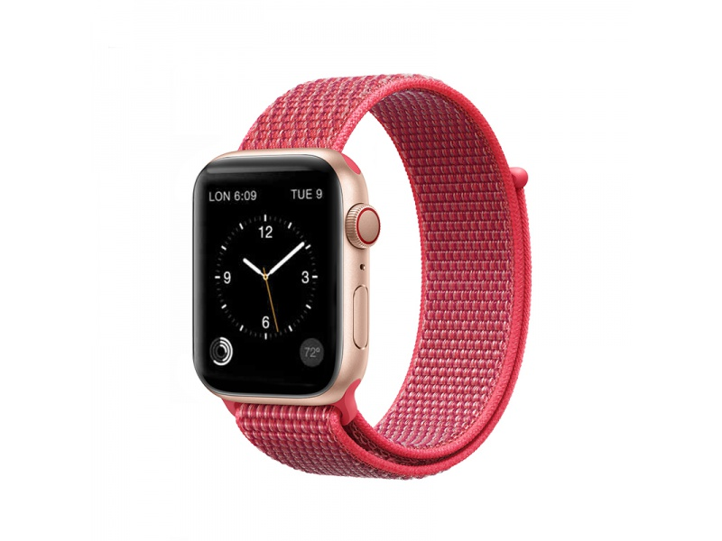 COTEetCI Magic Tape Strap for Apple Watch 38 / 40mm Hibiscus