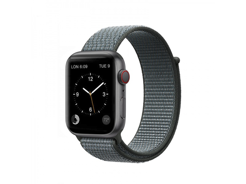 COTEetCI Magic Tape Strap for Apple Watch 42 / 44mm Storm Grey